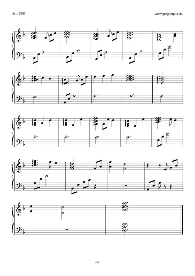 Sword Art Onli钢琴谱 第2页