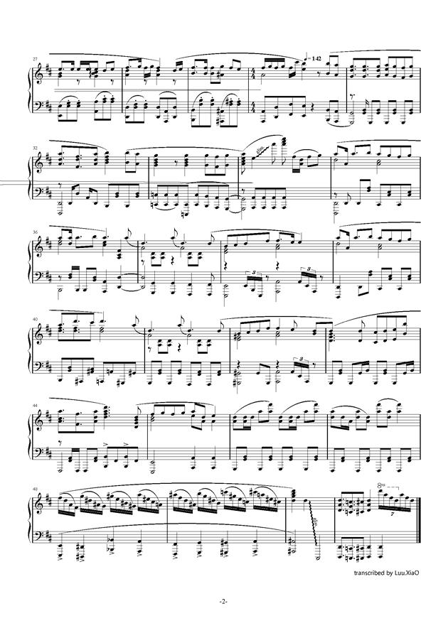 触手猴钢琴谱 第2页