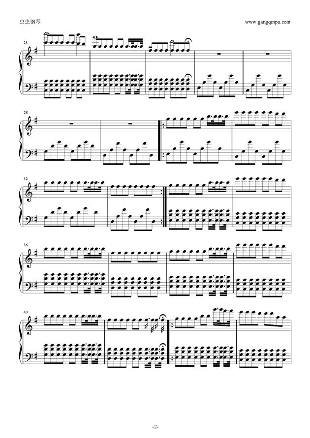 Fade钢琴谱 第2页