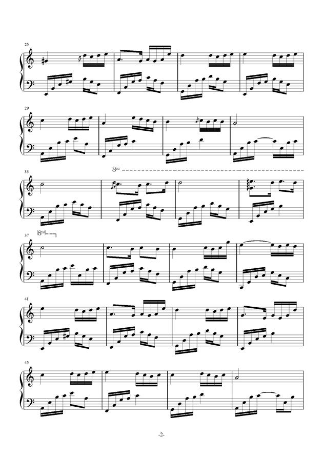 姚贝娜鱼谱子-钢琴曲 钢琴谱 金龙鱼