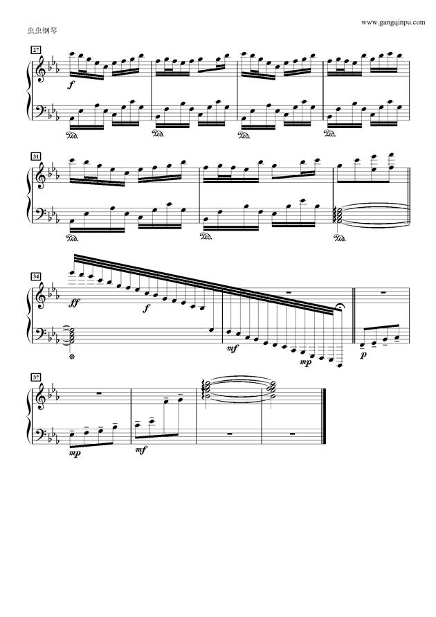 安らかな�Lに�\る�vの茶�~钢琴谱 第2页