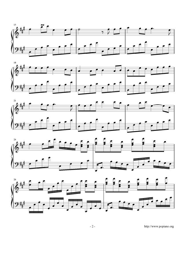 月下钢琴谱 第2页