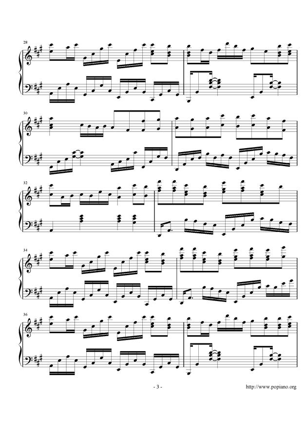 月下钢琴谱 第3页