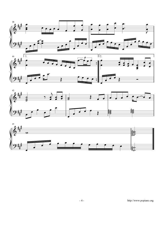 月下钢琴谱 第4页
