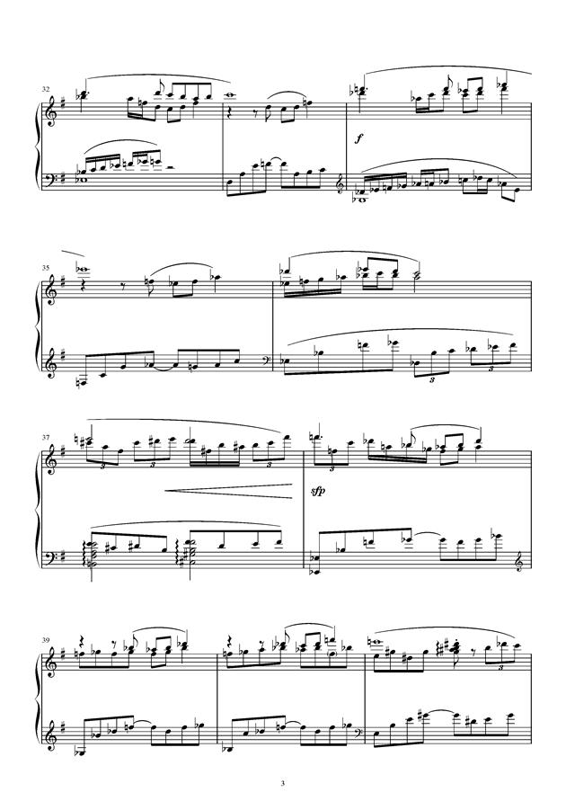 风之精灵钢琴谱 第3页