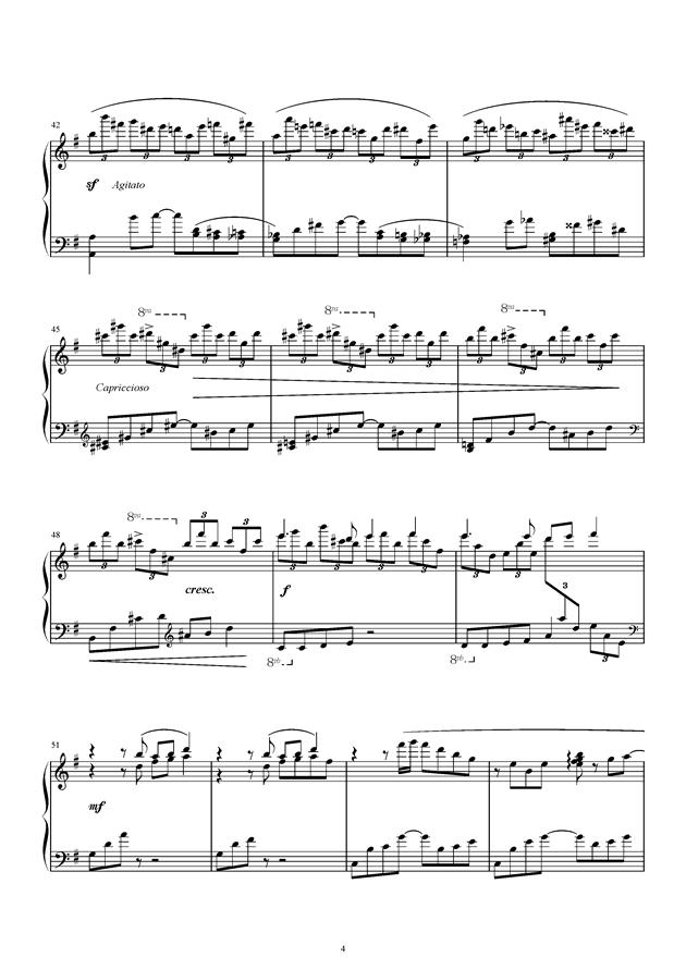 风之精灵钢琴谱 第4页