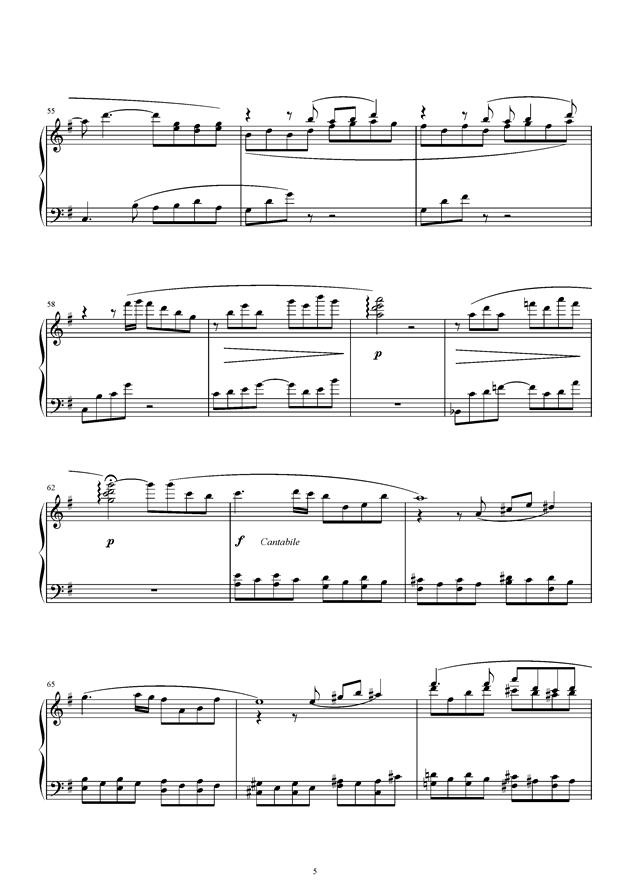 风之精灵钢琴谱 第5页