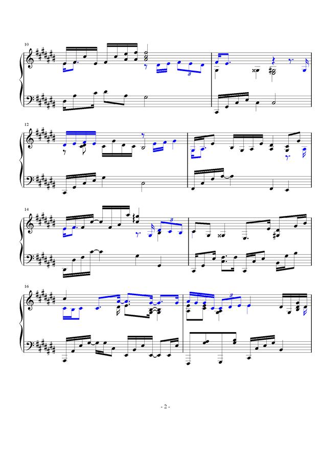 微光钢琴谱 第2页