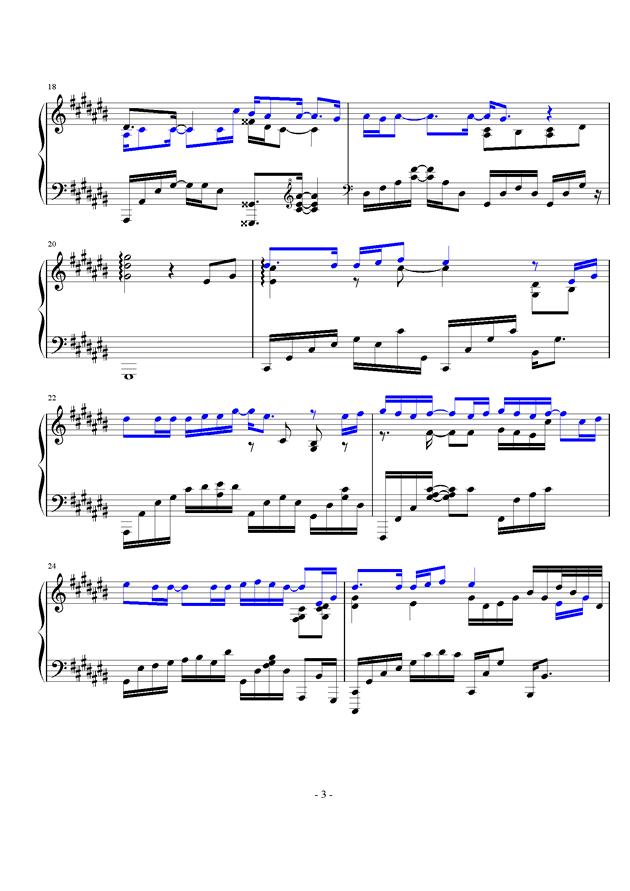 微光钢琴谱 第3页