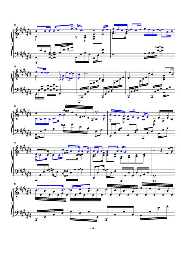 微光钢琴谱 第4页