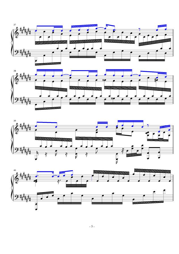 微光钢琴谱 第5页