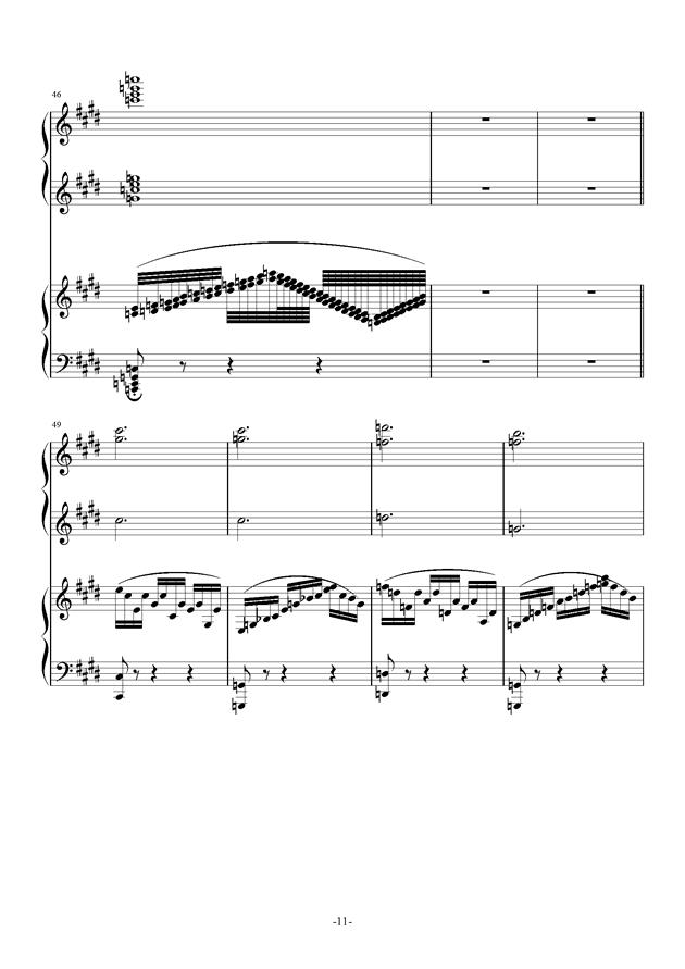 小温狂想曲 10-花市钢琴谱 第11页
