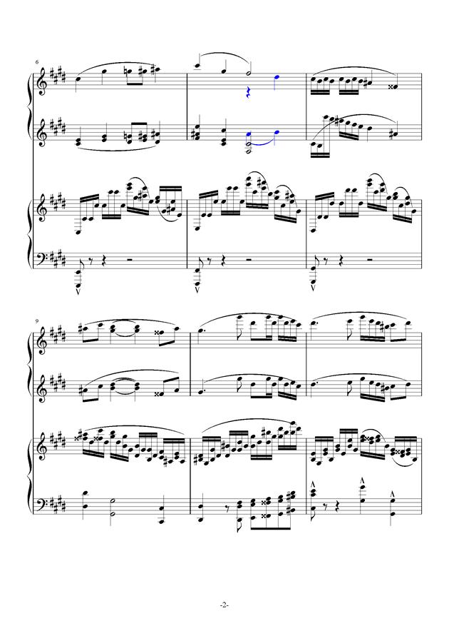 小温狂想曲 10-花市钢琴谱 第2页