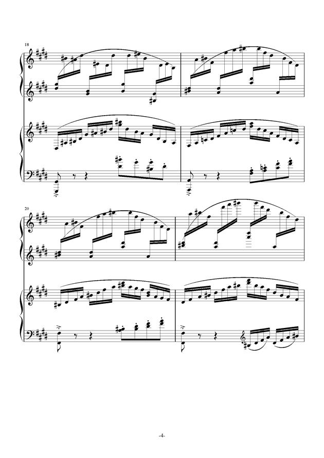 小温狂想曲 10-花市钢琴谱 第4页