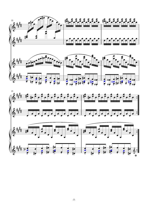 小温狂想曲 10-花市钢琴谱 第5页