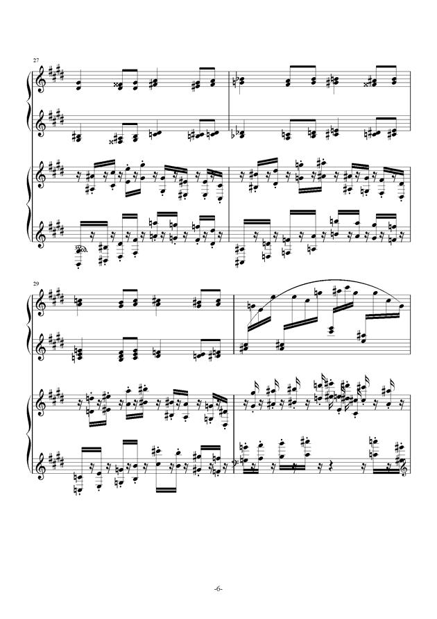 小温狂想曲 10-花市钢琴谱 第6页