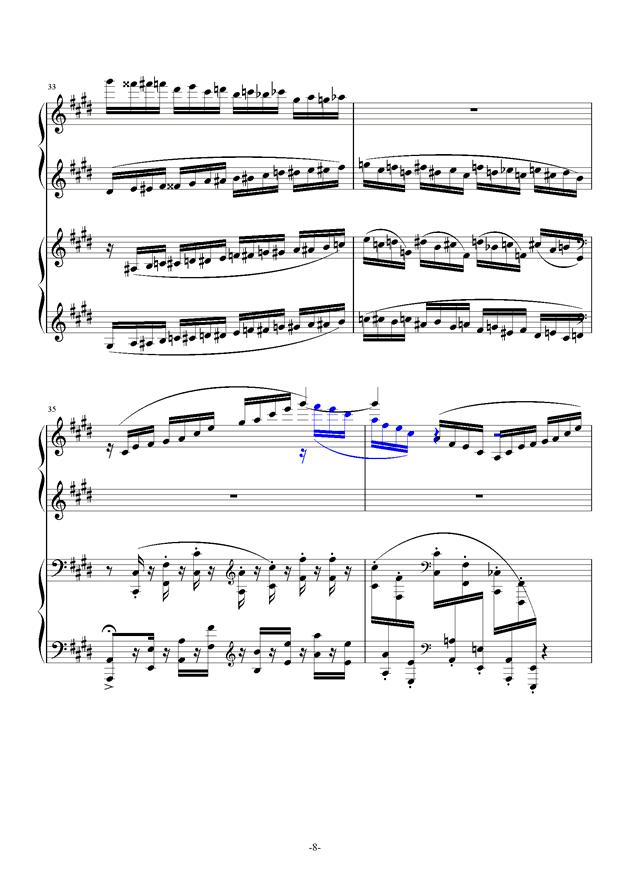 小温狂想曲 10-花市钢琴谱 第8页