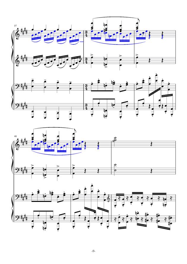 小温狂想曲 10-花市钢琴谱 第9页