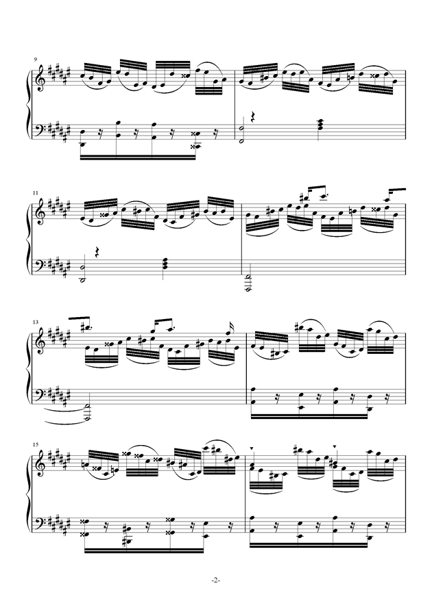 Etude in #d minor钢琴谱 第2页