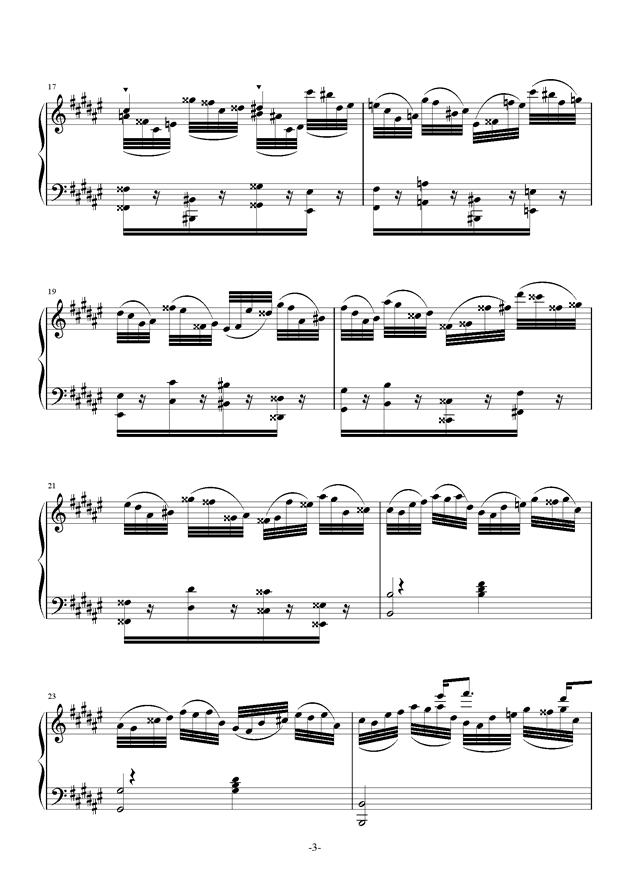 Etude in #d minor钢琴谱 第3页
