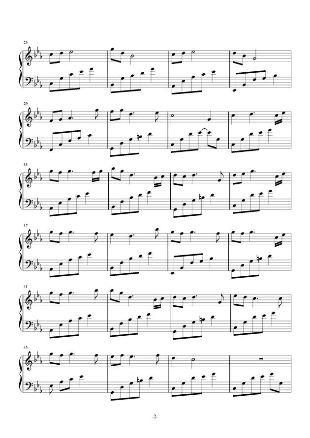 夜的钢琴曲22钢琴谱 第2页