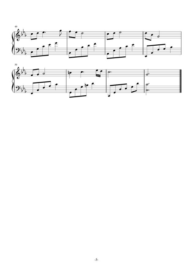 夜的钢琴曲22钢琴谱 第3页