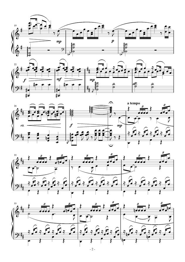Raining Rain钢琴谱 第2页