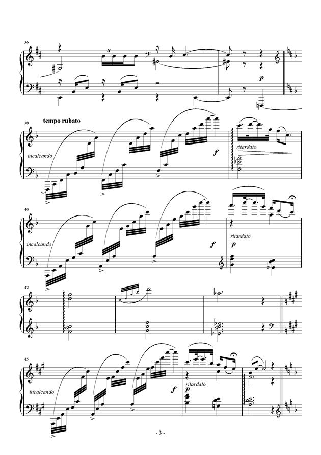 Raining Rain钢琴谱 第3页