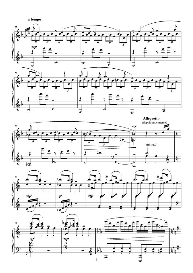 Raining Rain钢琴谱 第4页
