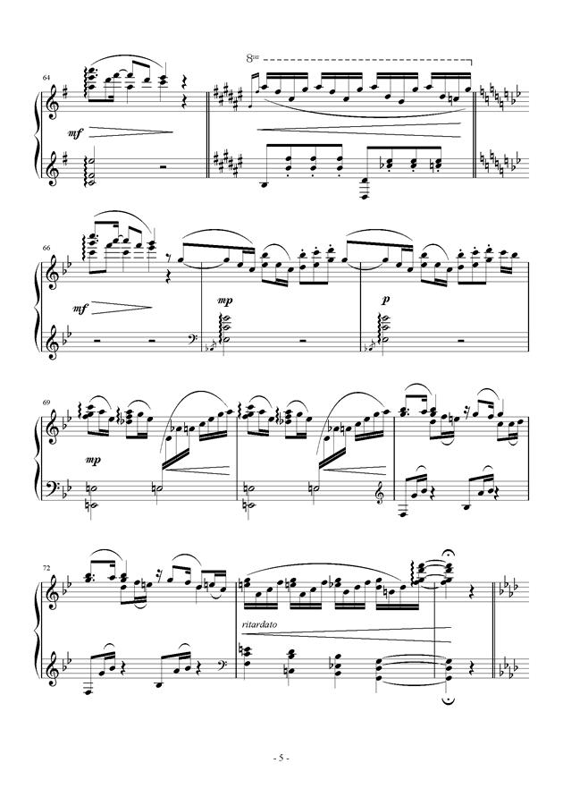 Raining Rain钢琴谱 第5页