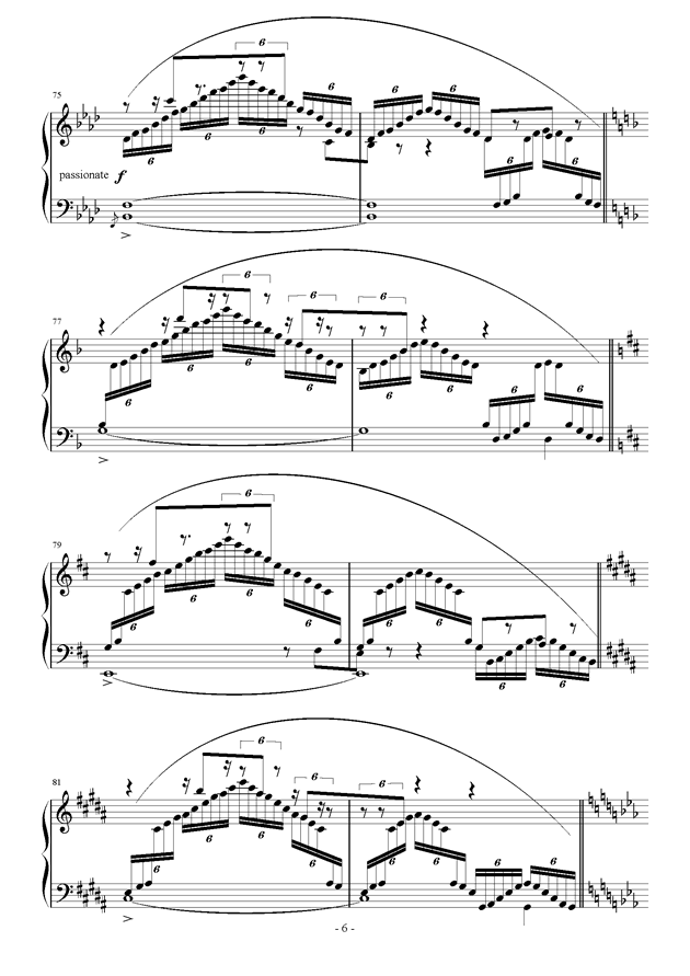 Raining Rain钢琴谱 第6页