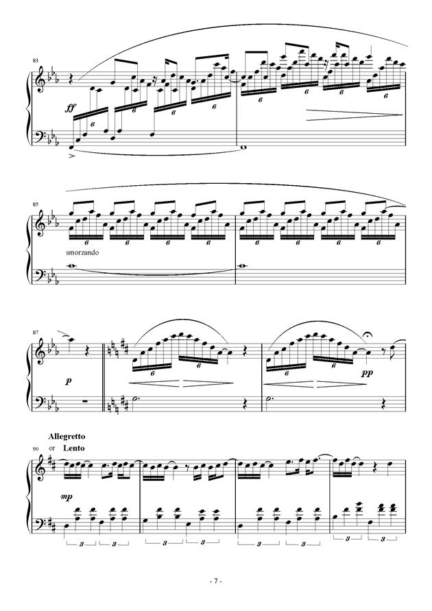 Raining Rain钢琴谱 第7页