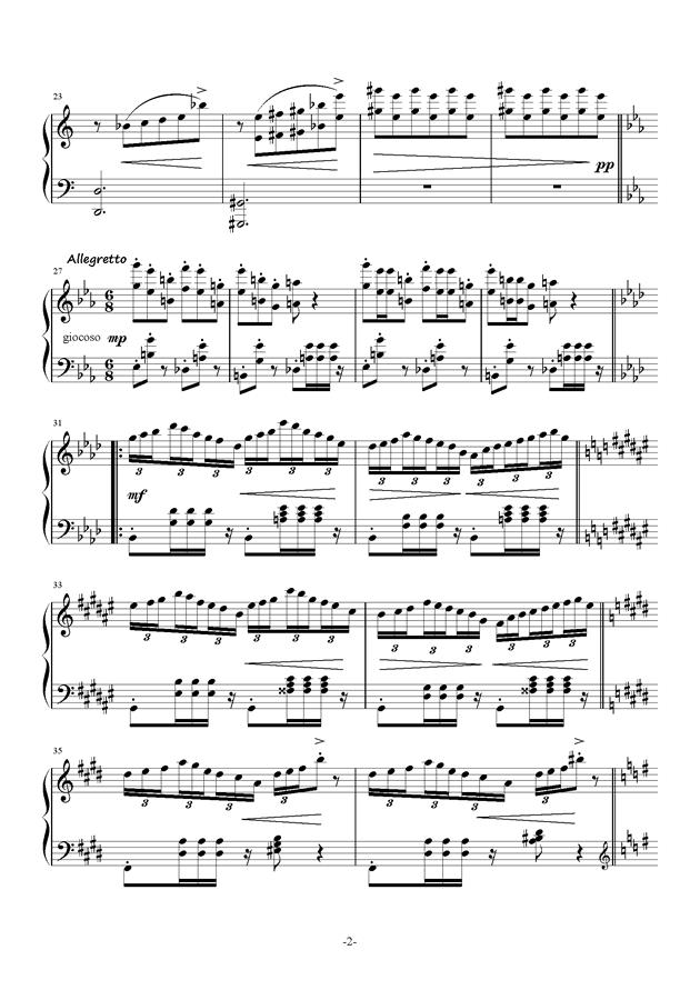 Bunny Dance钢琴谱 第2页