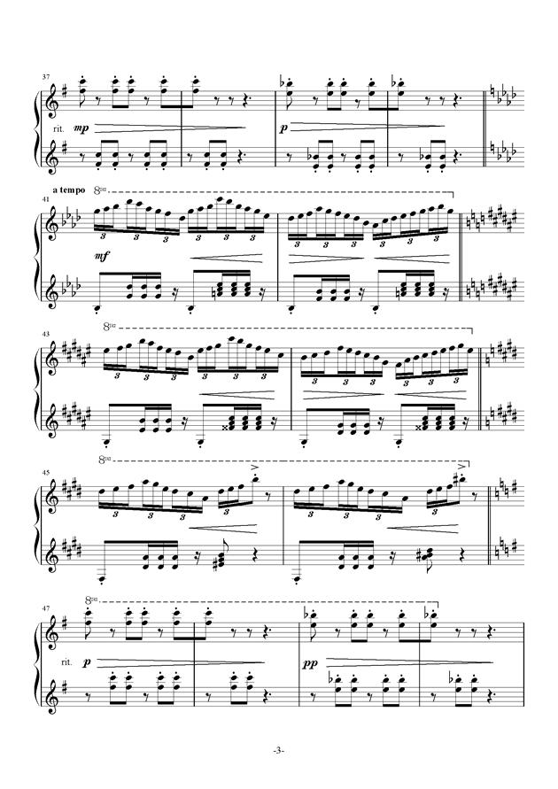 Bunny Dance钢琴谱 第3页