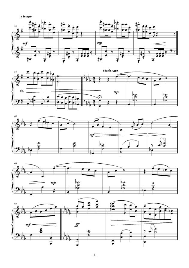 Bunny Dance钢琴谱 第4页