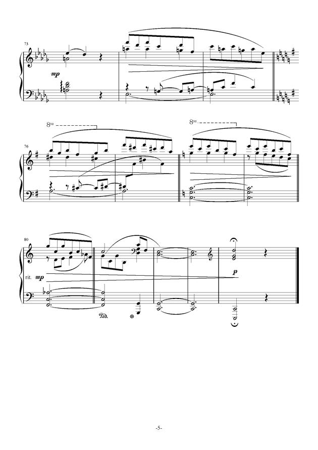 Bunny Dance钢琴谱 第5页