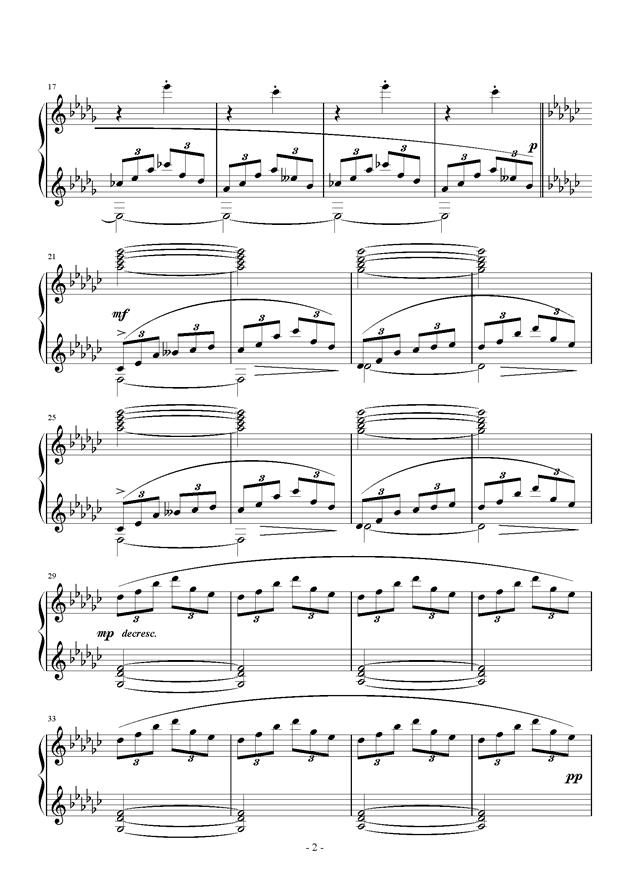 Etude in D flat钢琴谱 第2页