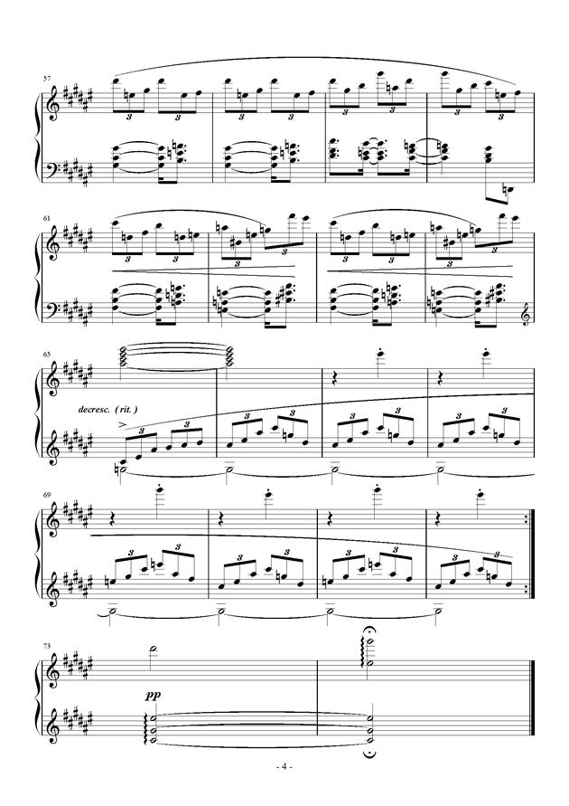 Etude in D flat钢琴谱 第4页