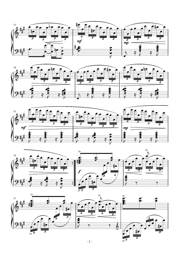 Etude in B minor钢琴谱 第2页