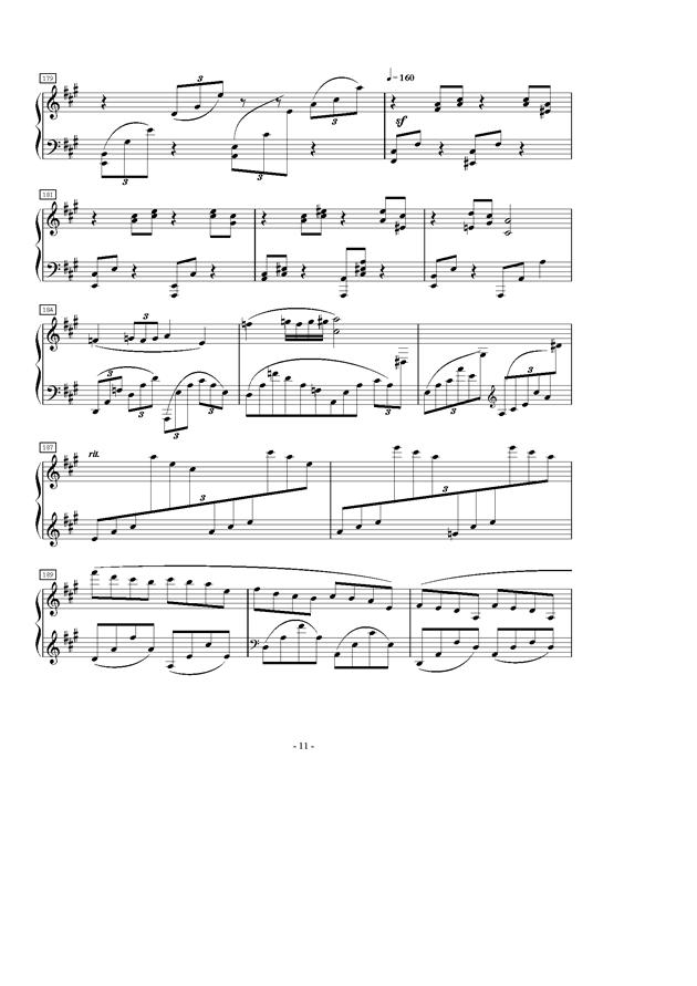 A大调第一叙事曲钢琴谱 第11页