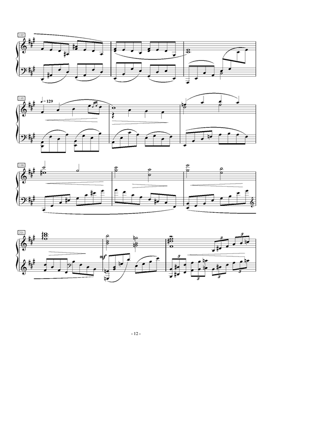 A大调第一叙事曲钢琴谱 第12页