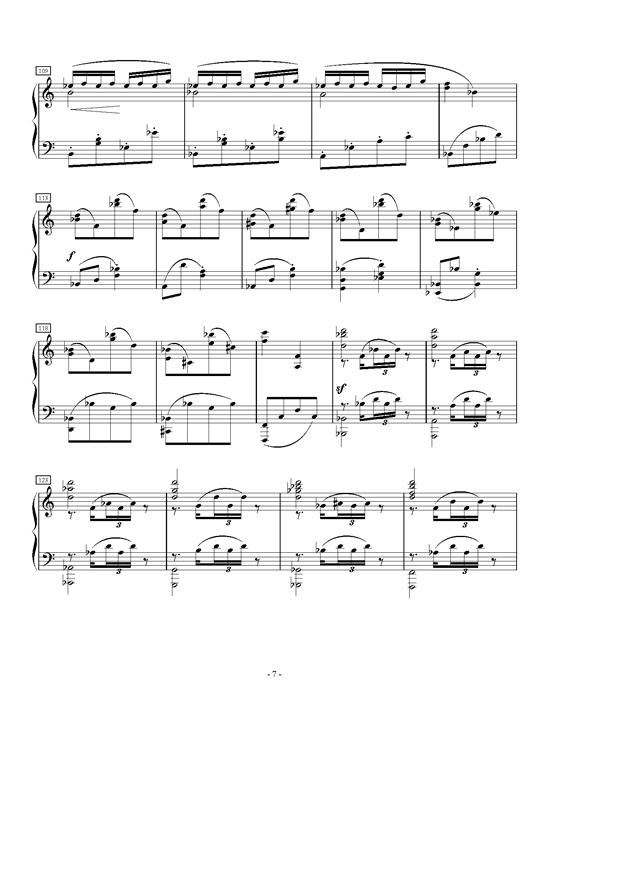 A大调第一叙事曲钢琴谱 第7页