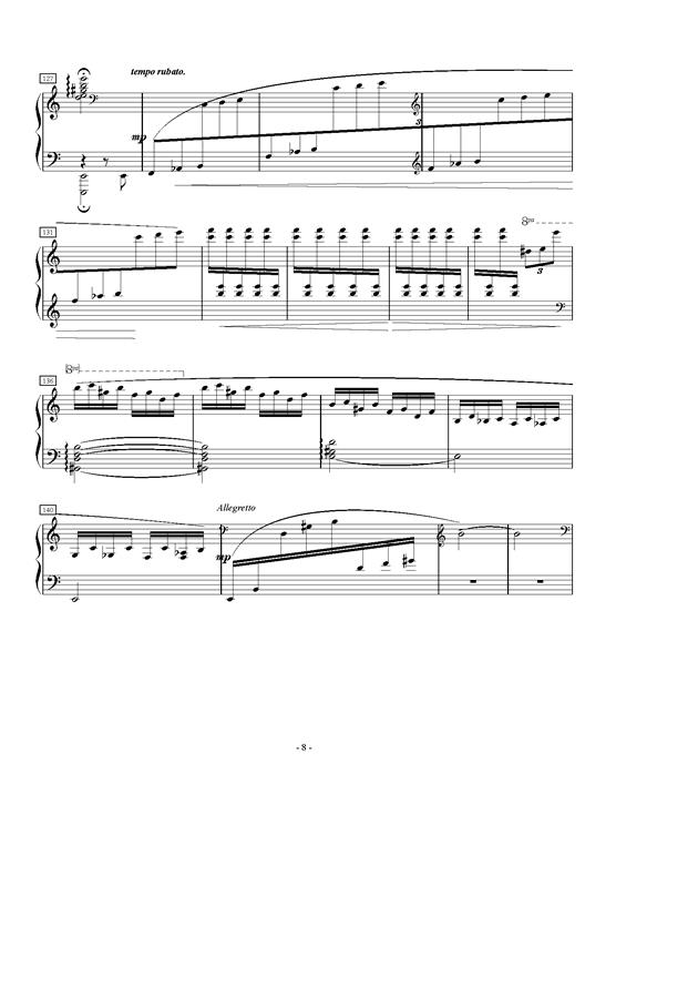A大调第一叙事曲钢琴谱 第8页