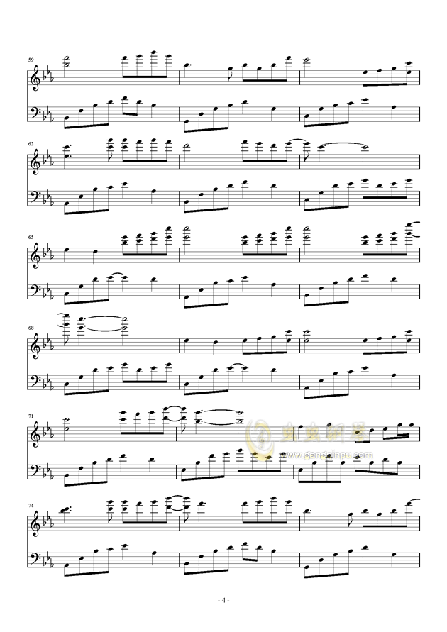 夜的钢琴曲五钢琴谱 第4页