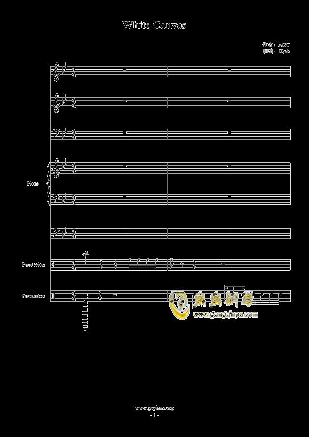 White Canvas钢琴谱 第1页