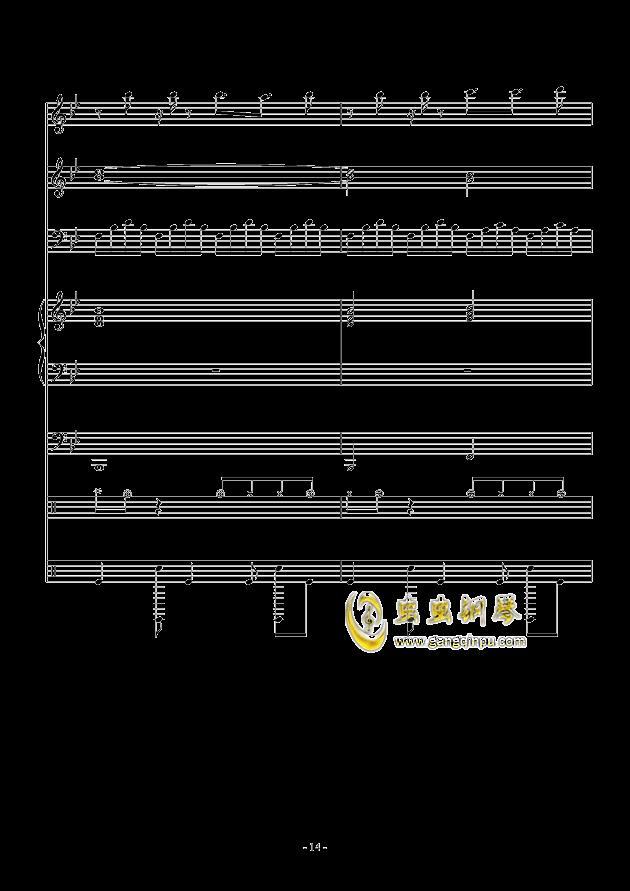 White Canvas钢琴谱 第14页