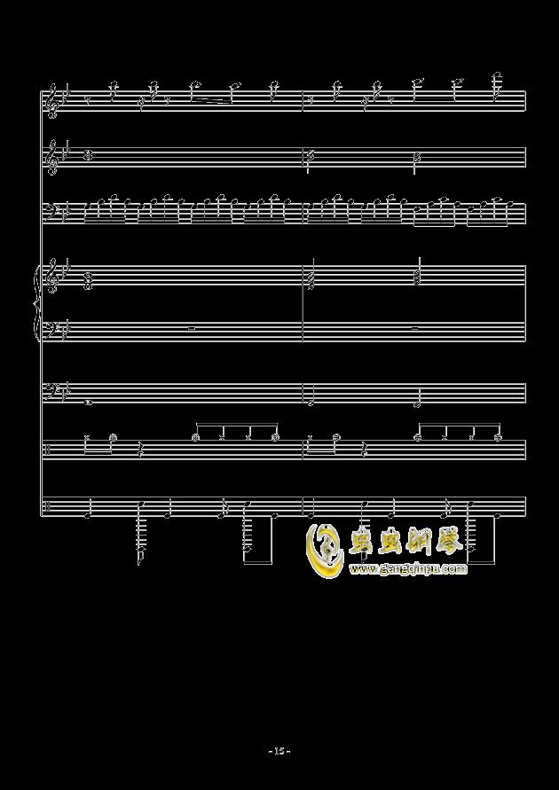 White Canvas钢琴谱 第15页