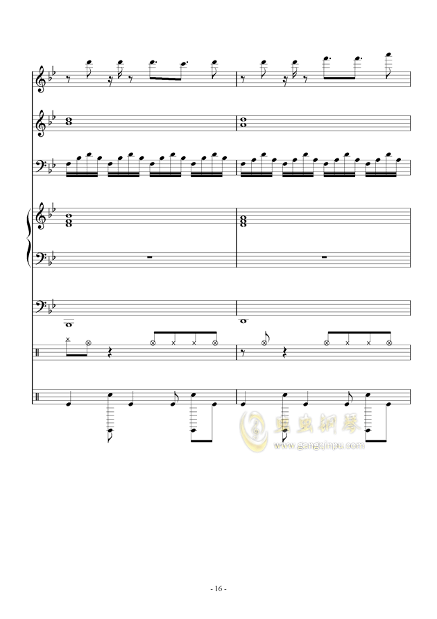 White Canvas钢琴谱 第16页