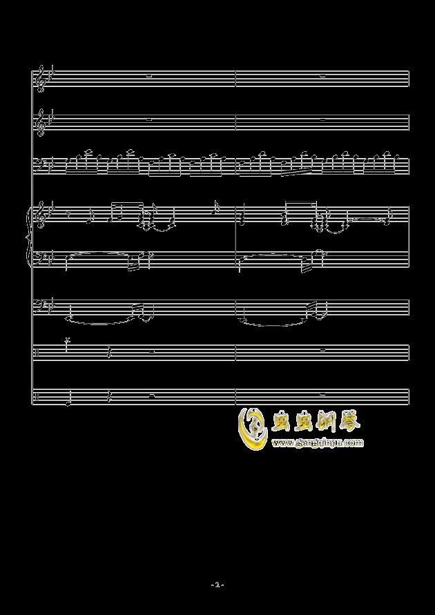 White Canvas钢琴谱 第2页