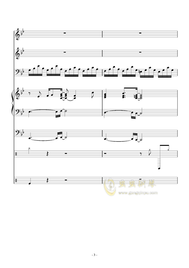 White Canvas钢琴谱 第3页